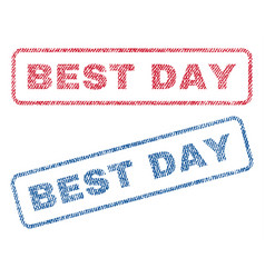 best day textile stamps vector image