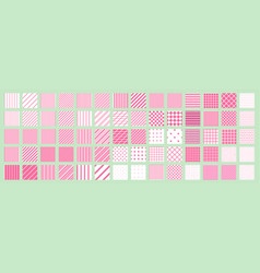 big set of 70 seamless abstract patterns pink and vector image