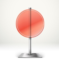 Blank transparent glass round information board vector