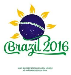 Brazil Patriotic banner for website template cards vector image