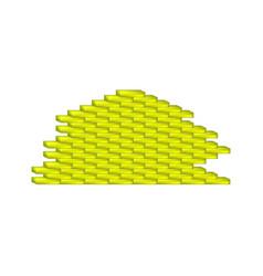 Brick wall in yellow design vector