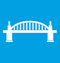 Bridge icon white vector