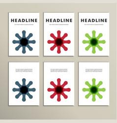Brochure layout design template vector
