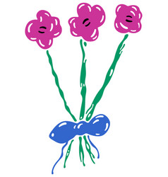 children drawing a flower vector image