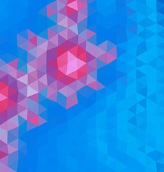 Colored polygonal background consist of triangles vector image