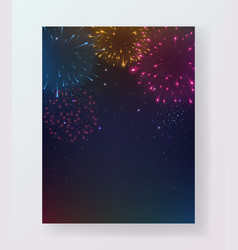 colorful fireworks party celebrations flyer design vector image