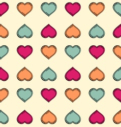Colorful hearts pattern vector image