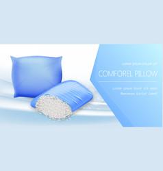 Comforel pillow banner resilient materials vector