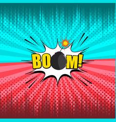 comic explosive duel template vector image