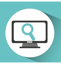 computer device search network icon vector image