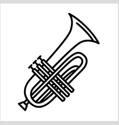 concept of trumpet music vector image