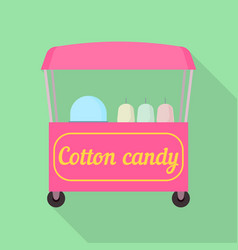 cotton candy shop icon flat style vector image