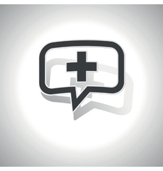 Curved plus message icon vector