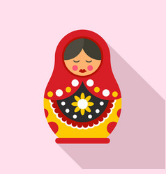 cute nesting doll icon flat style vector image
