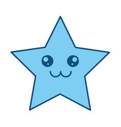Cute star cartoon vector