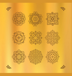 Design elements graphic thai design on a gold vector