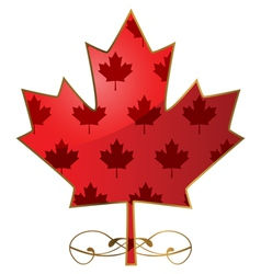 Fancy maple leaf vector