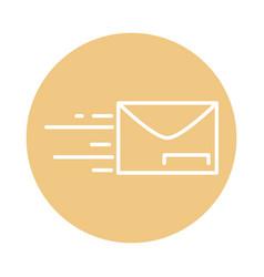 Fast mail envelope address postal delivery block vector