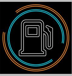 gas station symbol - gasoline pump vector image