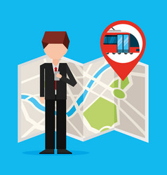 Gps navigation transportation vector