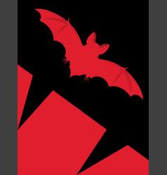 Halloween vampire bat vector