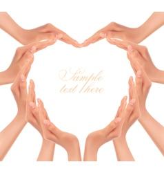 Hands making a heart vector