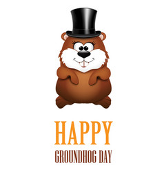 Happy Groundhog Day greeting Cards vector image