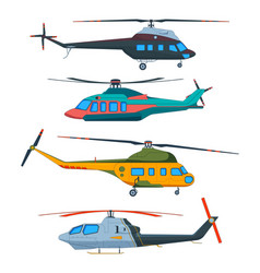 helicopter aviation helicopters cartoon avia vector image