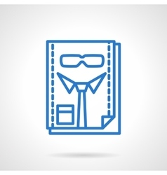 HR management blue line icon vector image