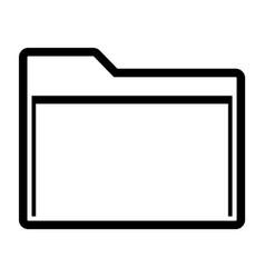 line manila folder icon vector image