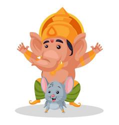 lord ganesha cartoon character vector image