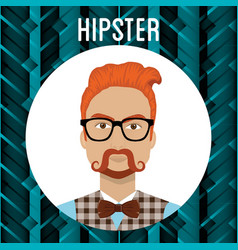 man style hipster character vector image