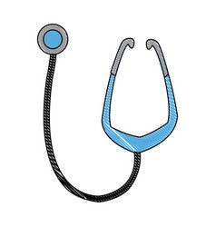 medical stethoscope equipment medicine diagnosis vector image