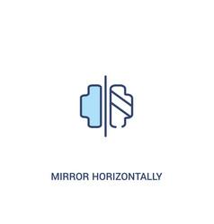 Mirror horizontally concept 2 colored icon simple vector
