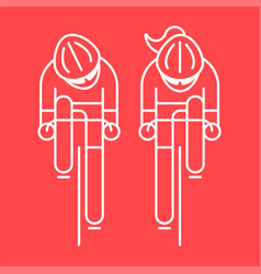modern cyclist from front view vector image
