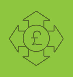 money spending color linear icon vector image