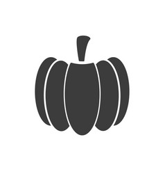 monochrome isolated pumpkin icon on white vector image