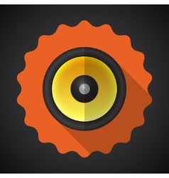 Music Speaker Sound System Flat Icon vector