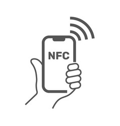 Near field communication mobile phone with nfc vector