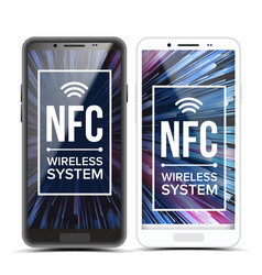 nfc tap to pay nfc technology wireless vector image