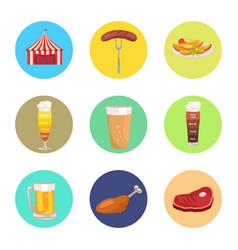 nine images of oktoberfest vector image