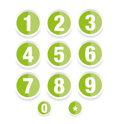 number set label vector image