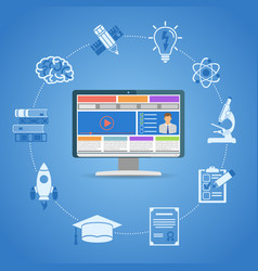 online education infographics vector image