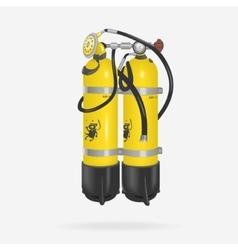 Oxygen cylinder diving vector
