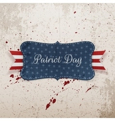 Patriot Day Festive Banner on grunge Background vector