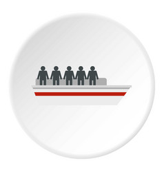 People on ship icon circle vector