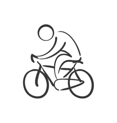 Pictogram and bike icon Healthy lifestyle design vector