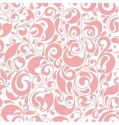 Pink and white leaf seamless pattern ornament vector