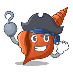 Pirate long shell character cartoon vector
