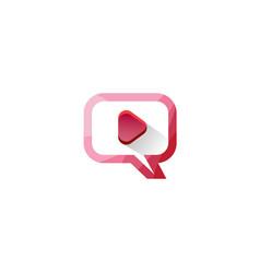 play button logo movie digital play playlist film vector image